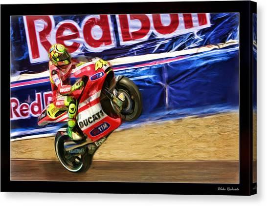 Valentino Rossi Ducati Canvas Print
