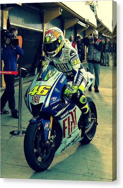 Yamaha Canvas Print - Valentino Rossi - Motogp by Gaelle Henderson