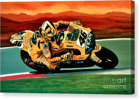 Yamaha Canvas Print - Valentino Rossi The Doctor by Paul Meijering