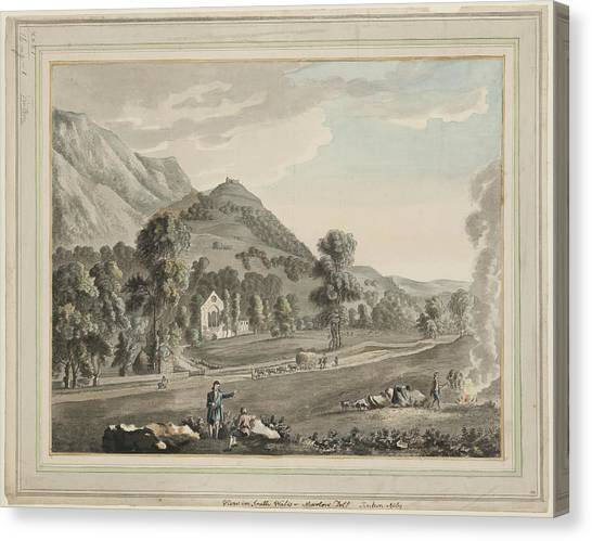 Marlow Canvas Print - Valle Crucis Abbey by British Library