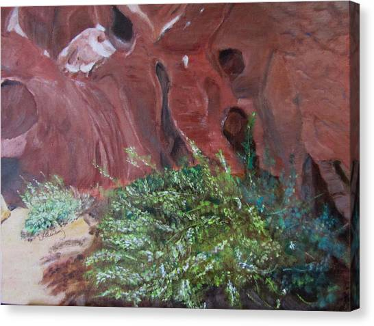 Canvas Print featuring the painting Valley Of Fire State Park by Linda Feinberg