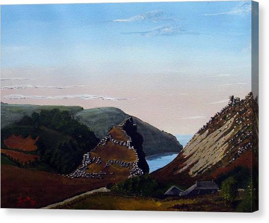 Valley Of Rocks Devon Canvas Print by Richard Taylor