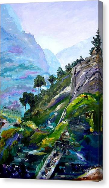 Canvas Print featuring the painting Valley Of Saints by Ray Khalife