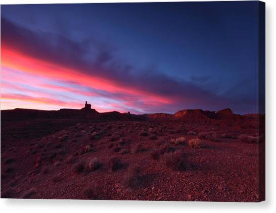 Valley Of The Gods Canvas Print by Darryl Wilkinson