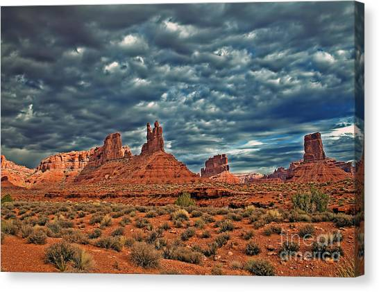 Sandy Desert Canvas Print - Valley Of The Gods by Robert Bales