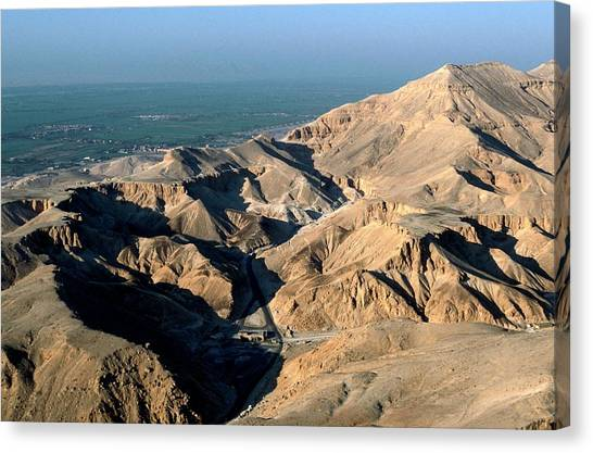 Egyptian Art Canvas Print - Valley Of The Kings East Valley by Patrick Landmann/science Photo Library