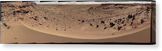 Sandy Desert Canvas Print - Valley On Mars by Nasa/jpl-caltech/msss/science Photo Library