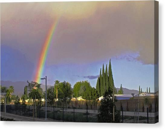 Valley Rainbow 3 Canvas Print