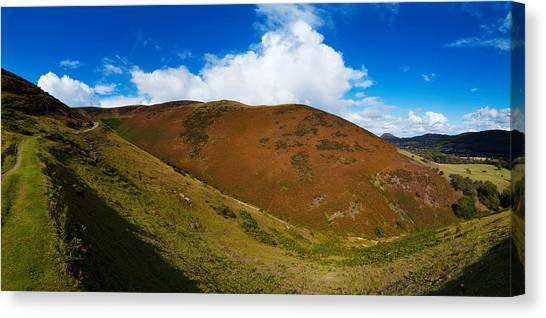 Moorland Canvas Print - Valley To Hopes Wood, Little Stretton by Panoramic Images