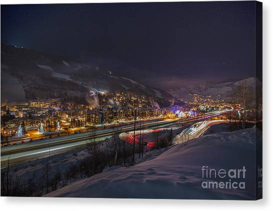 Valley Traffic Canvas Print