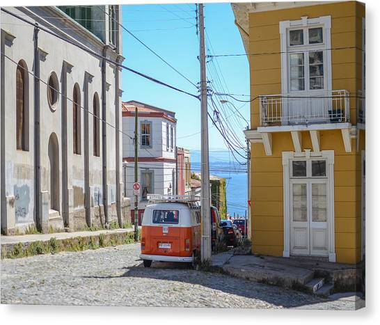 Valparaiso Chile Canvas Print by Eric Dewar
