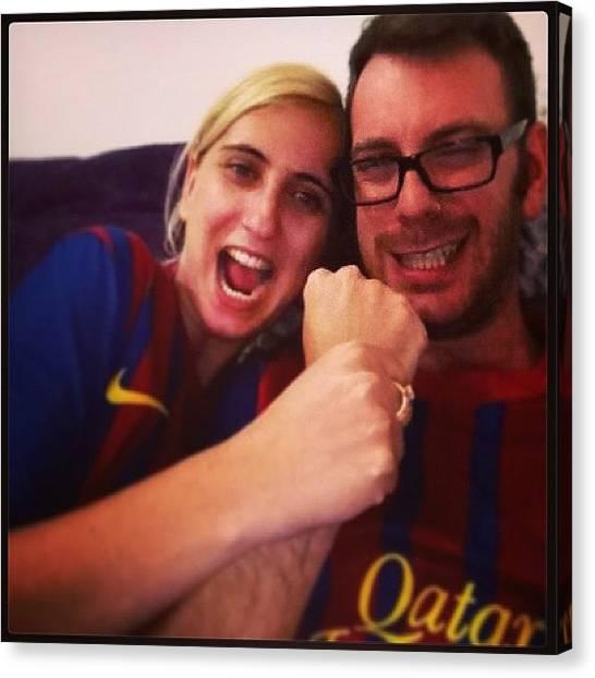 Goal Canvas Print - Vamos Barca!!! @barca_mania_il by May Pinky  ✨