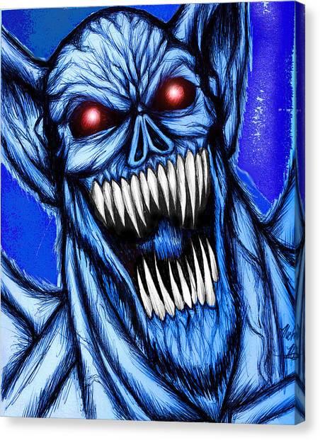 Fantasy Cave Canvas Print - Vampbat by Michael Mestas