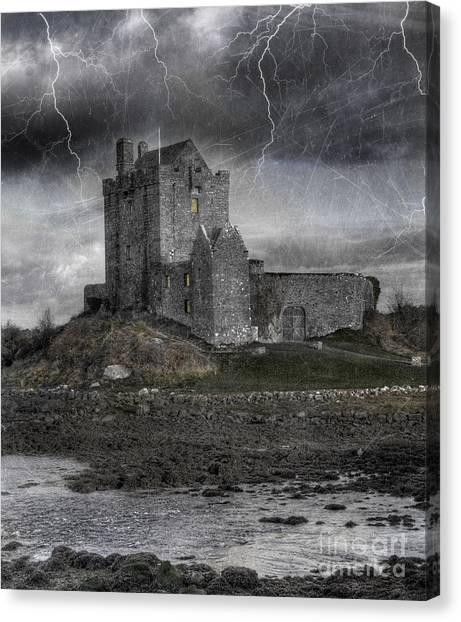 Celtic Art Canvas Print - Vampire Castle by Juli Scalzi