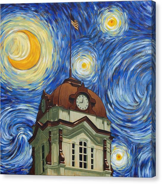Van Gogh Courthouse Canvas Print
