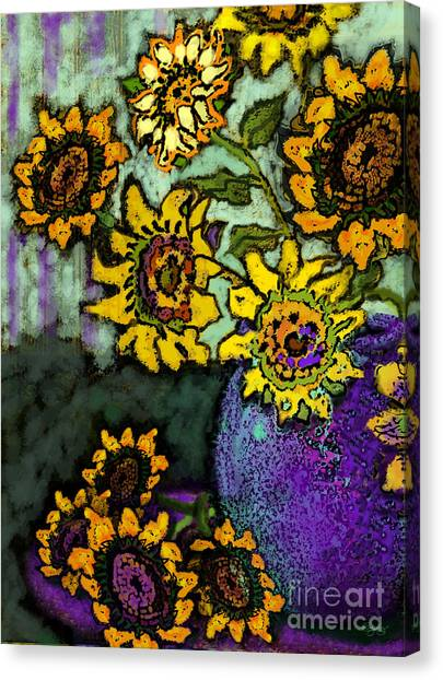 Van Gogh Sunflowers Cover Canvas Print