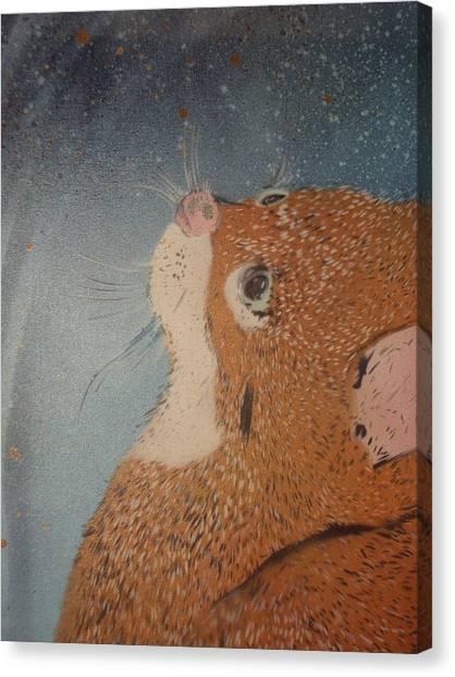Van Goghs Cat Canvas Print by Christopher Golding