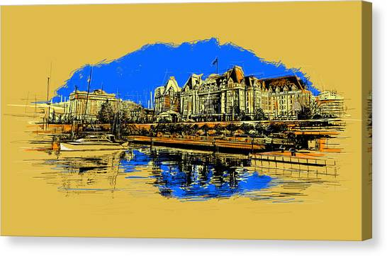 Vancouver Skyline Canvas Print - Vancouver Art 001 by Catf