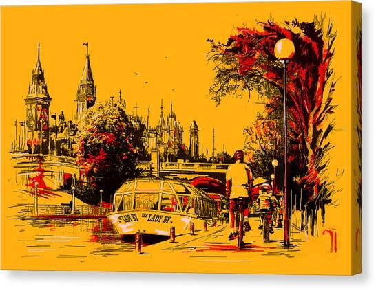 Vancouver Skyline Canvas Print - Vancouver Art 002 by Catf
