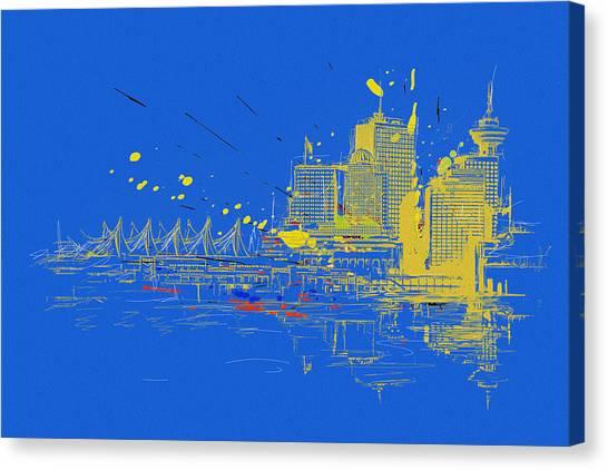 Vancouver Skyline Canvas Print - Vancouver Art 005 by Catf