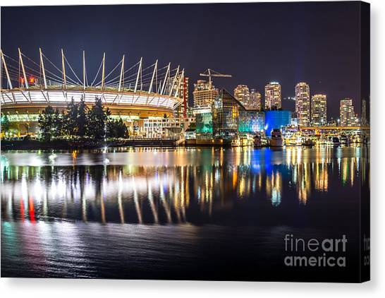 Vancouver Whitecaps Fc Canvas Print - Vancouver Bc Place - By Sabine Edrissi by Sabine Edrissi