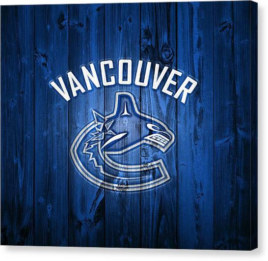 Vancouver Canucks Canvas Print - Vancouver Canucks Barn Door by Dan Sproul