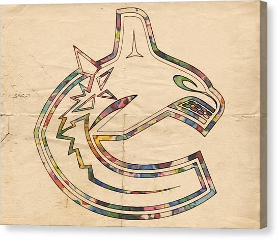 Vancouver Canucks Canvas Print - Vancouver Canucks Hockey Poster by Florian Rodarte