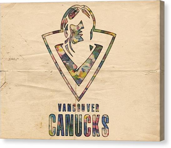 Vancouver Canucks Canvas Print - Vancouver Canucks Vintage Poster by Florian Rodarte