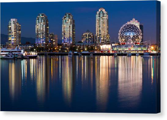 Vancouver Skyline Canvas Print - Vancouver Postcard by Alexis Birkill