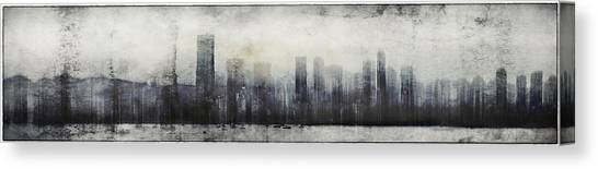 Vancouver Skyline Abstract 1 Canvas Print
