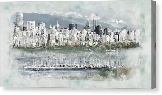 Vancouver Skyline Canvas Print - Vancouver Skyline by Maryam Mughal