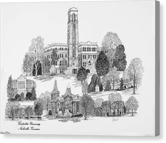 Vanderbilt University Canvas Print - Vanderbilt University by Jessica Bryant