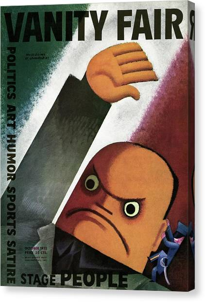 Vanity Fair Cover Featuring  A Caricature Canvas Print by Miguel Covarrubias
