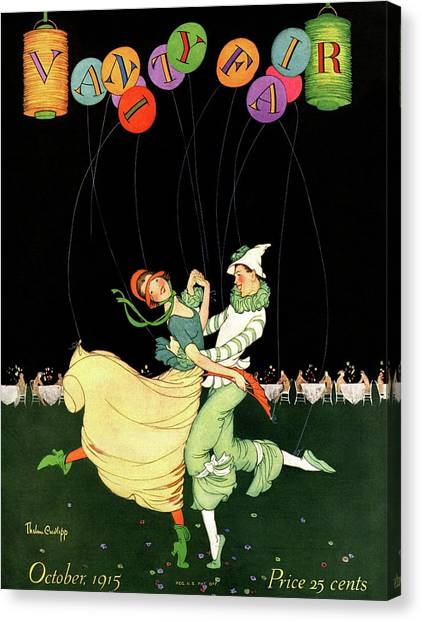 Vanity Fair Cover Featuring A Couple Dancing Canvas Print