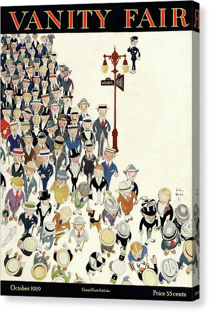 Police Officers Canvas Print - Vanity Fair Cover Featuring A Crowd by John Held Jr