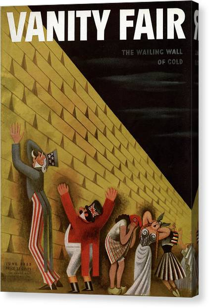 Vanity Fair Cover Featuring A Group Of Figures Canvas Print by Miguel Covarrubias