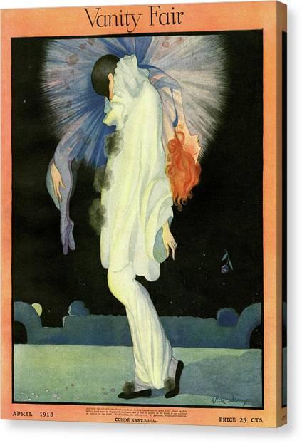 Vanity Fair Cover Featuring A Harlequin Canvas Print by Rita Senger