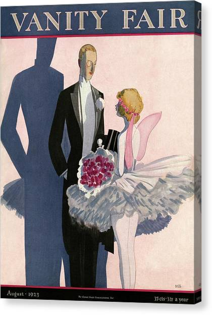 Vanity Fair Cover Featuring A Man In A Tuxedo Canvas Print by Eduardo Garcia Benito