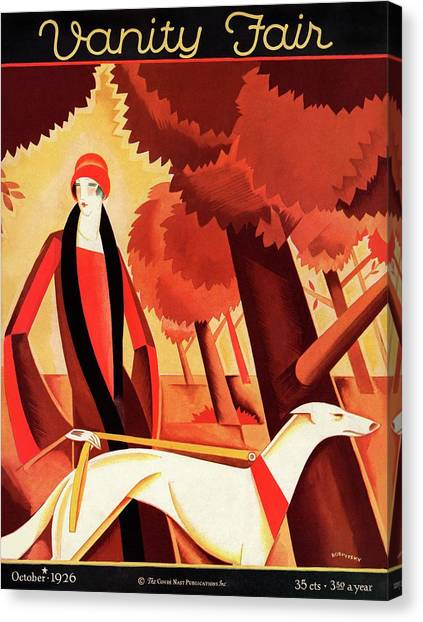 Vanity Fair Cover Featuring An Elegant Woman Canvas Print by Victor Bobritsky