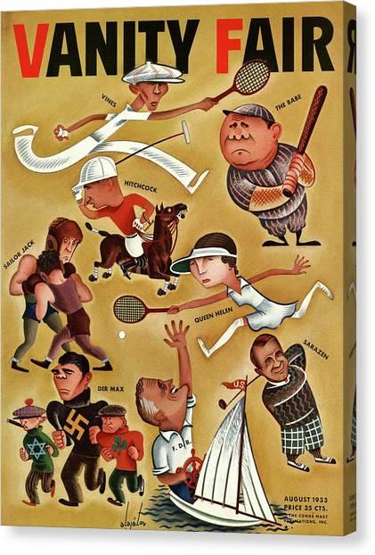 Vanity Fair Cover Featuring Caricatures Canvas Print