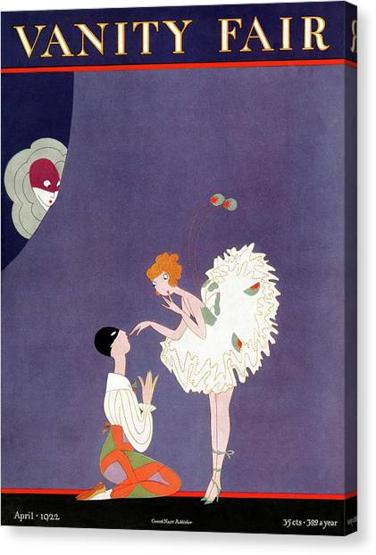 Vanity Fair Cover Featuring Dancers Flirting Canvas Print