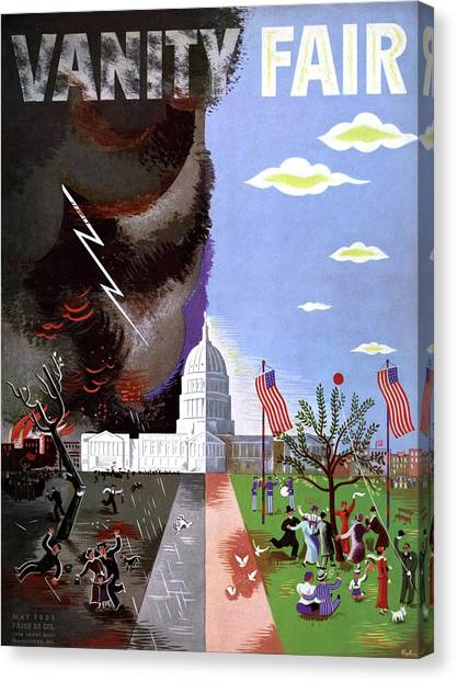 Vanity Fair Cover Featuring The Capitol Building Canvas Print by Victor Bobritsky