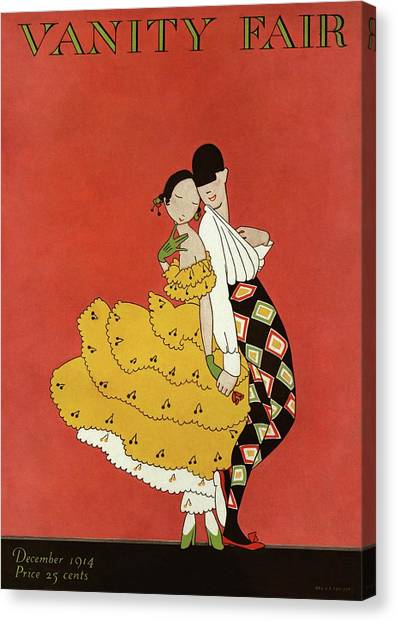 Vanity Fair Cover Featuring Two Dancers Canvas Print