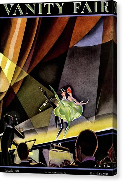 Vanity Fair Cover Featuring Two Performers Canvas Print