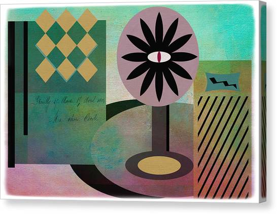 Frank Stella Canvas Print - Vanity by Linda Dunn