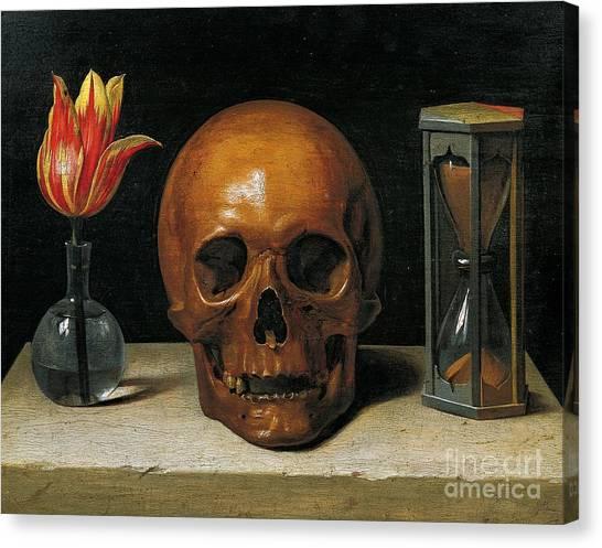 Skull Canvas Print - Vanity by Philippe de Champaigne