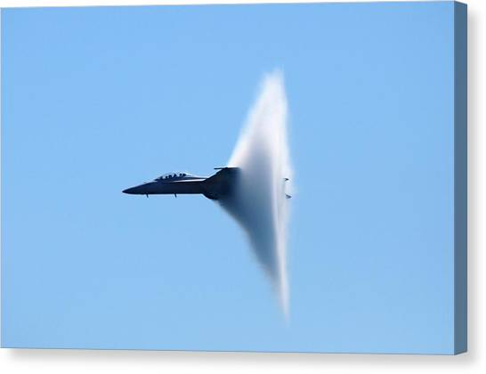 Breaking Sound Barrier Canvas Print - Vapor Cone by Mike Quinn