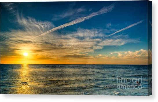 Wind Farms Canvas Print - Vapor Trail by Adrian Evans