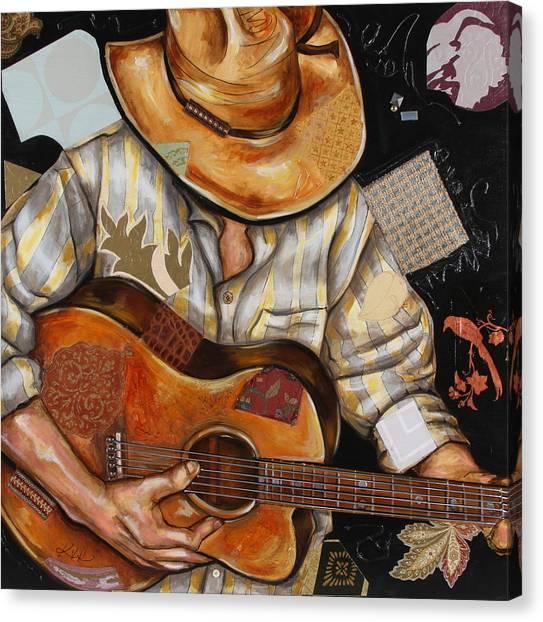 Vaquero De The Acoustic Guitar Canvas Print