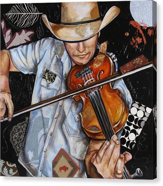 Vaquero De The Fiddle Canvas Print